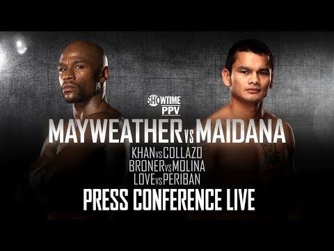 Press Conference Live  Mayweather vs Maidana  SHOWTIME Boxing