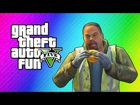 GTA 5 Online Funny Moments - Cribs. Cucumber Bus. Epic Stunt. Doughnut Man!