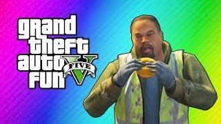 GTA 5 Online Funny Moments - Cribs, Cucumber Bus, Epic Stunt, Doughnut Man!