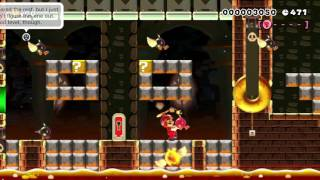 Bowser's Grand Boss Palace by Michael - SUPER MARIO MAKER - No Commentary 一