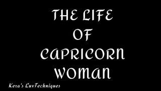 The Life Of Capricorn Woman