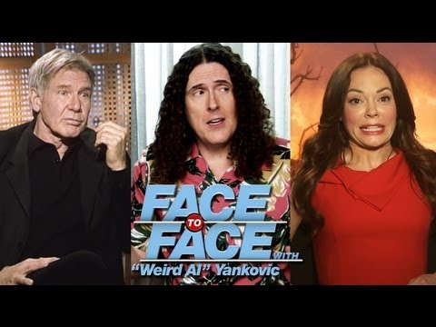"Harrison Ford & Rose McGowan go Face to Face with ""Weird Al"" Yankovic"