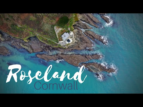 Roseland Heritage Coast, Cornwall, UK. Cinematic Drone Footage 4K