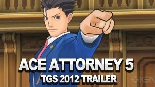Gyakuten Saiban - Ace Attorney 5 - Japanese Trailer - TGS 2012