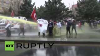 RAW: Police fire water cannon, crackdown on 'secular' teachers