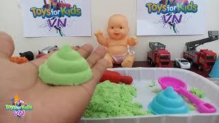 Nặn Màu Cát Cùng Búp Bê Em Bé - Toys For Kids VN