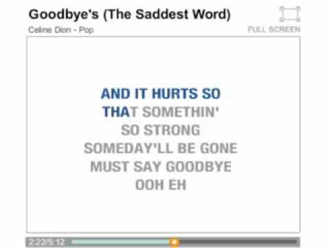 Celine Dion   Goodbyes The Saddest Word   Timomusic Ch video