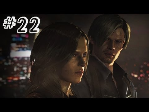 Resident Evil 6 Gameplay Walkthrough Part 22 - SIMMONS - Leon / Helena Campaign Chapter 4 (RE6)