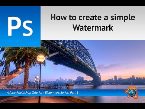 How to create a simple watermark for your images