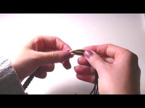 Abalorios Manualidades - Utilizar el Kumihimo cuadrado ( parte 3 )