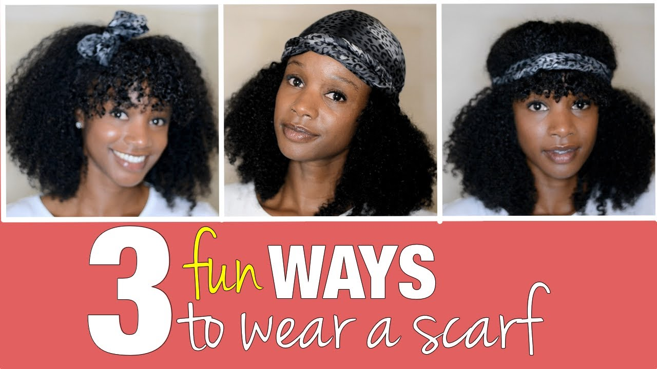 Different Ways To Wear A Scarf On Natural Hair