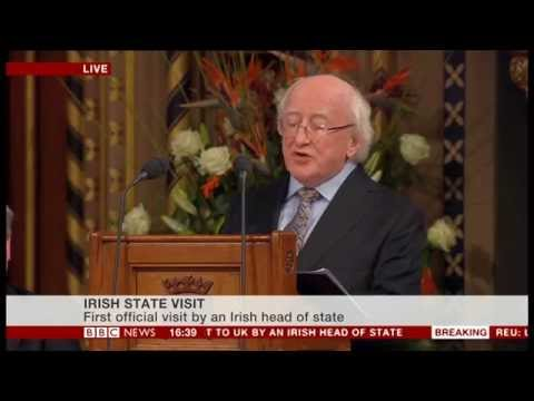 Michael D Higgins,Irish President  Speaking In The House of Commons