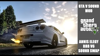GTA V PC - Annis Elegy RH8 V6 sound swap MOD