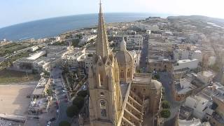 Ghajnsielem Church Gozo HD Drone 2015