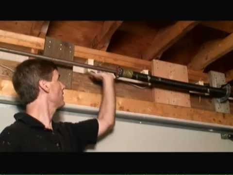 How to remove garage door header sag youtube for 16 garage door header