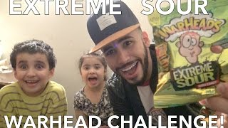 EXTREME SOUR WARHEAD CHALLENGE!!!