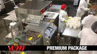 VC999 RS420 dual line packaging BBQ meat