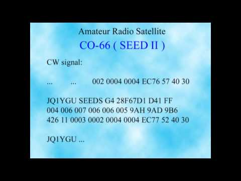 Amaterur Radio Satellite CO-66 (SEED II) UHF CW Signal