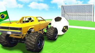 FOOTBALL IN GTA 5 WITH MONSTER TRUCKS!