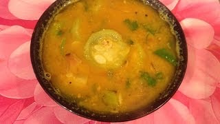 Peerkangai sambar or ridge gourd sambar