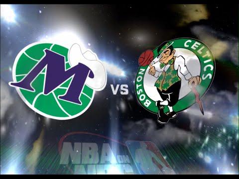 nba 2k11 Dallas Mavericks-Boston Celtics Retro
