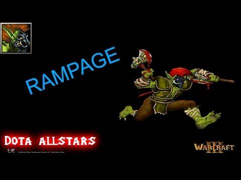 DotA Gameplay Troll Warlord - RAMPAGE!!!