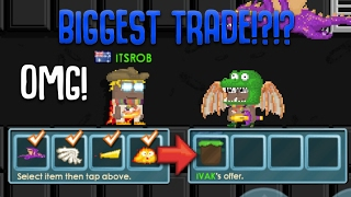 BIGGEST TRADE IN GROWTOPIA HISTORY?!! TOP 3 BIGGEST TRADES - GROWTOPIA