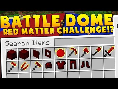 Minecraft OVERPOWERED RED MATTER ARMOR MODDED BATTLEDOME CHALLENGE - Minecraft Mod (Part 1)