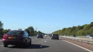 UK Driving, M3 south-west from London, timelapse