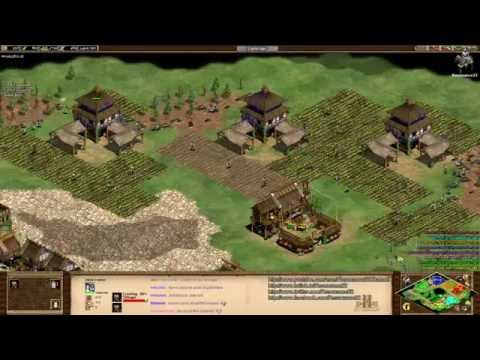Aoe2 Hd: 4v4 Megarandom (mongols, Feudal War) video