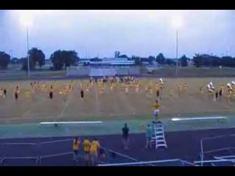 Greenwood high school marching band, Bowling Green, KY, full band