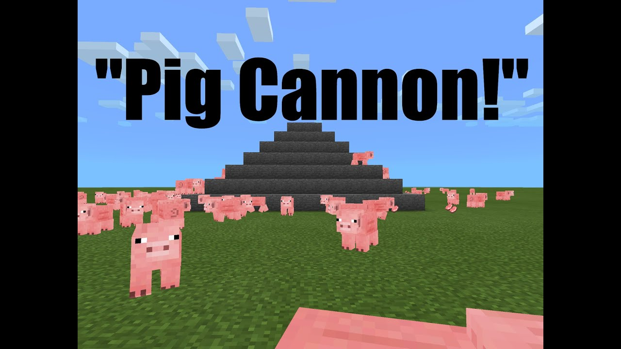 Marvelous photograph of Fun Things to do in Minecraft PE! Pig Volcano   with #0457C7 color and 2048x1536 pixels
