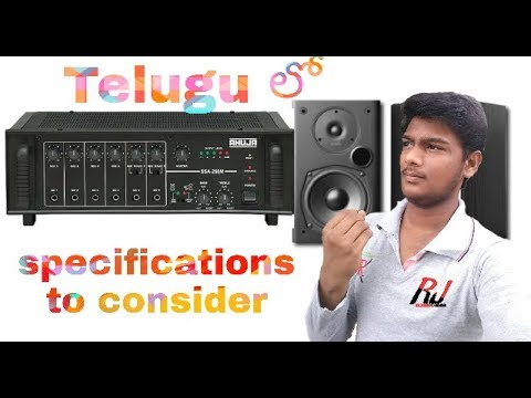 specifications of amplifier & speaker||amplifiers||class-2||RJ tech-world//Telugu thumbnail