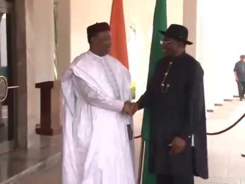 President of Niger Republic Pays solidarity Visit to Prsident Jonathan