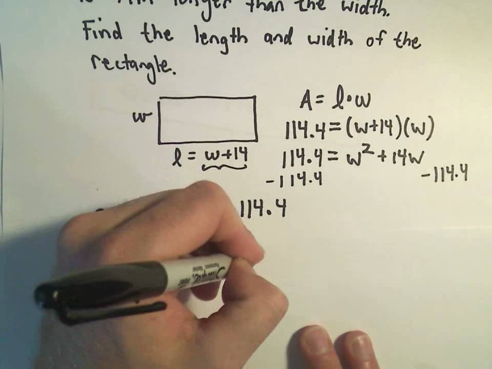 more word problems using quadratic equations example 1 youtube. Black Bedroom Furniture Sets. Home Design Ideas