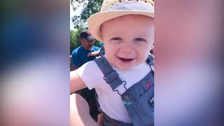 Funny Babies And Animals at Zoo