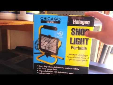 Harbor Freight Tools Portable Halogen Shop Light Review