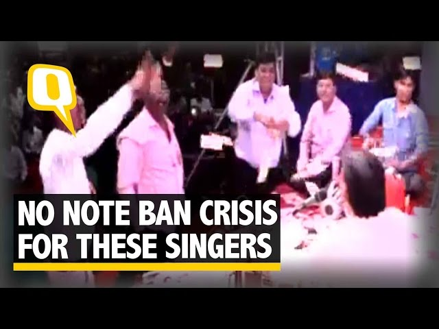 The Quint: No Cash Crunch Here! Rs 40 Lakh Showered on Singers in Gujarat