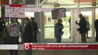 Controversy surrounding New Haven school superintendent vote
