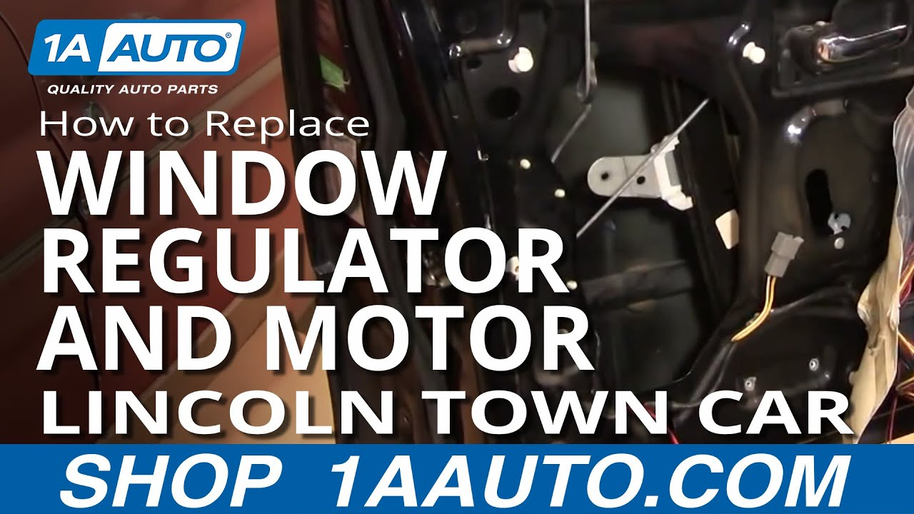 How to replace install front window regulator and motor part 1 lincoln town car 98 11 Car window motor replacement