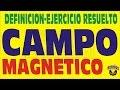 CAMPO MAGNETICO DEFINICION Y EJERCICIO RESUELTO