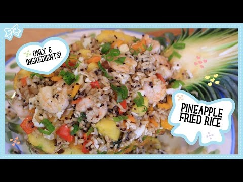 Pineapple Fried Rice Made Healthy with 6 Ingredients!