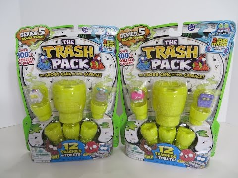 The Trash Pack Series 5 Trashies Toilets Opening Unboxing Toy Review