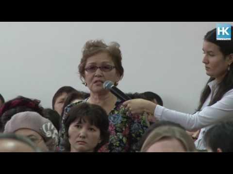 Пятая отчетная встреча главы  Костаная прошла для жителей КСК сегодня в школе-гимназии №3.