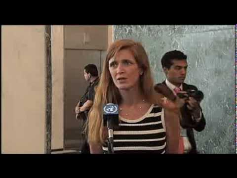 WorldLeadersTV: US REPRESENTATIVE Amb SAMANTHA POWER PRESENTS CREDENTIALS to UN's BAN KI-MOON