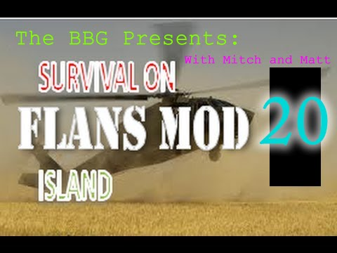 Minecraft Flans Mod Survival - Episode 20 - Crafted A Spaceship! (Guns,Tanks, Planes, Survival)