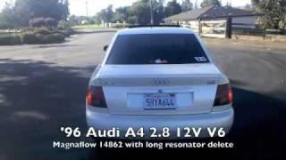 96 Audi A4 Exhaust 2.8L 12V V6 Magnaflow 14862