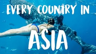 Travel 23 Countries of Asia and Australia In 230 Seconds!