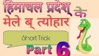 हिमाचल प्रदेश् के प्रसिद्ध अंतरराष्ट्रीय   मेले व त्योहार  Short Trick Part 6