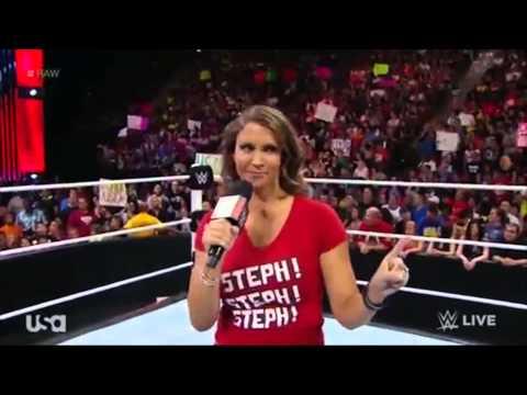 RAW 18/8/14 Stephanie McMahon, Nikki Bella & Brie Bella Segment